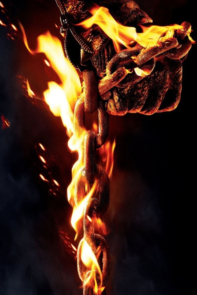 2012 Ghost Rider 2 iPhone 4 Wallpaper and iPhone 4S Wallpaper 640x960