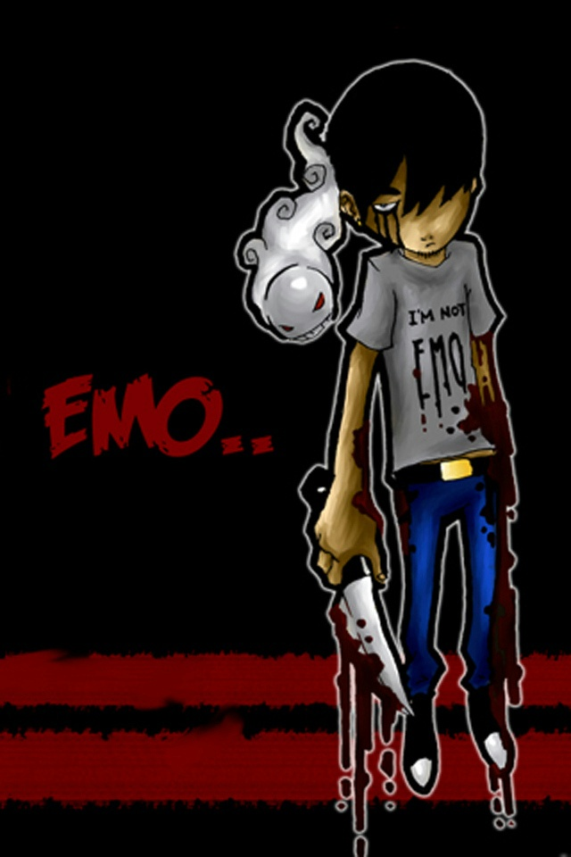 am not EMO iPhone 4 Wallpaper and iPhone 4S Wallpaper 640x960