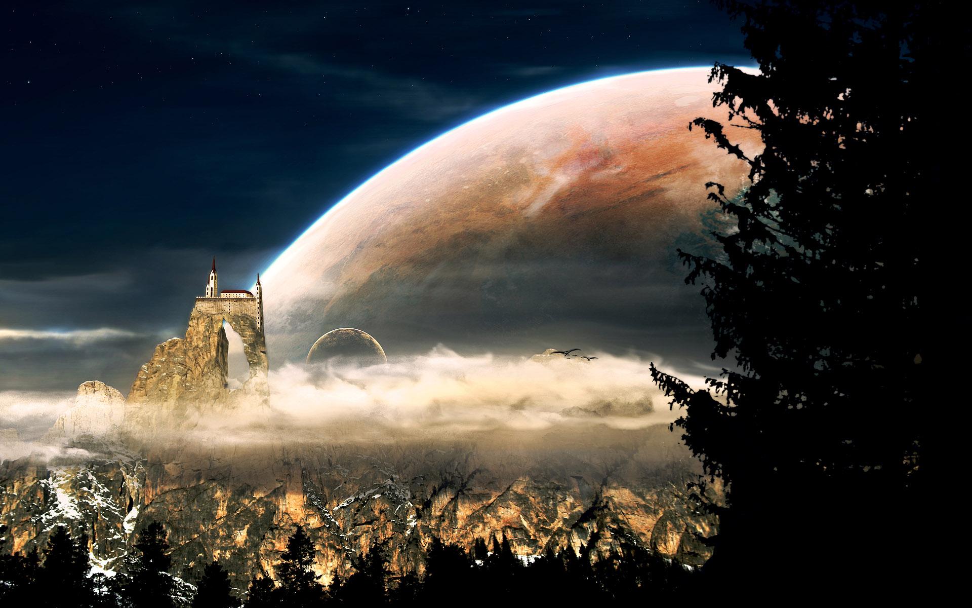 Space Planet Wallpaper Background PC Dekstop 1920x1200