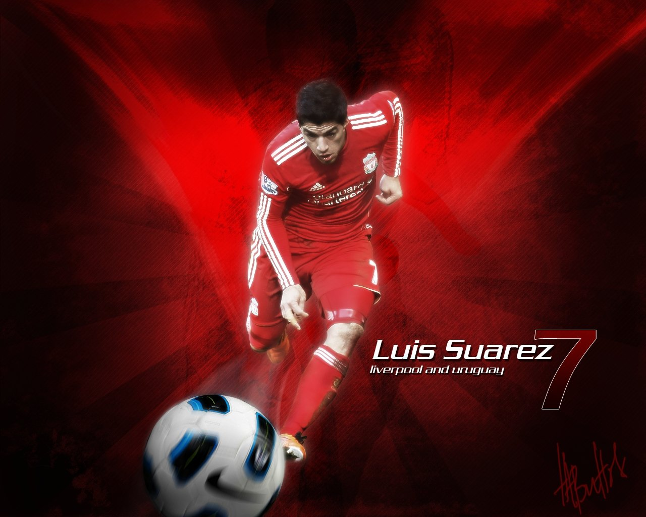 All Soccer Playerz HD Wallpapers Luis Suarez New HD 1280x1024