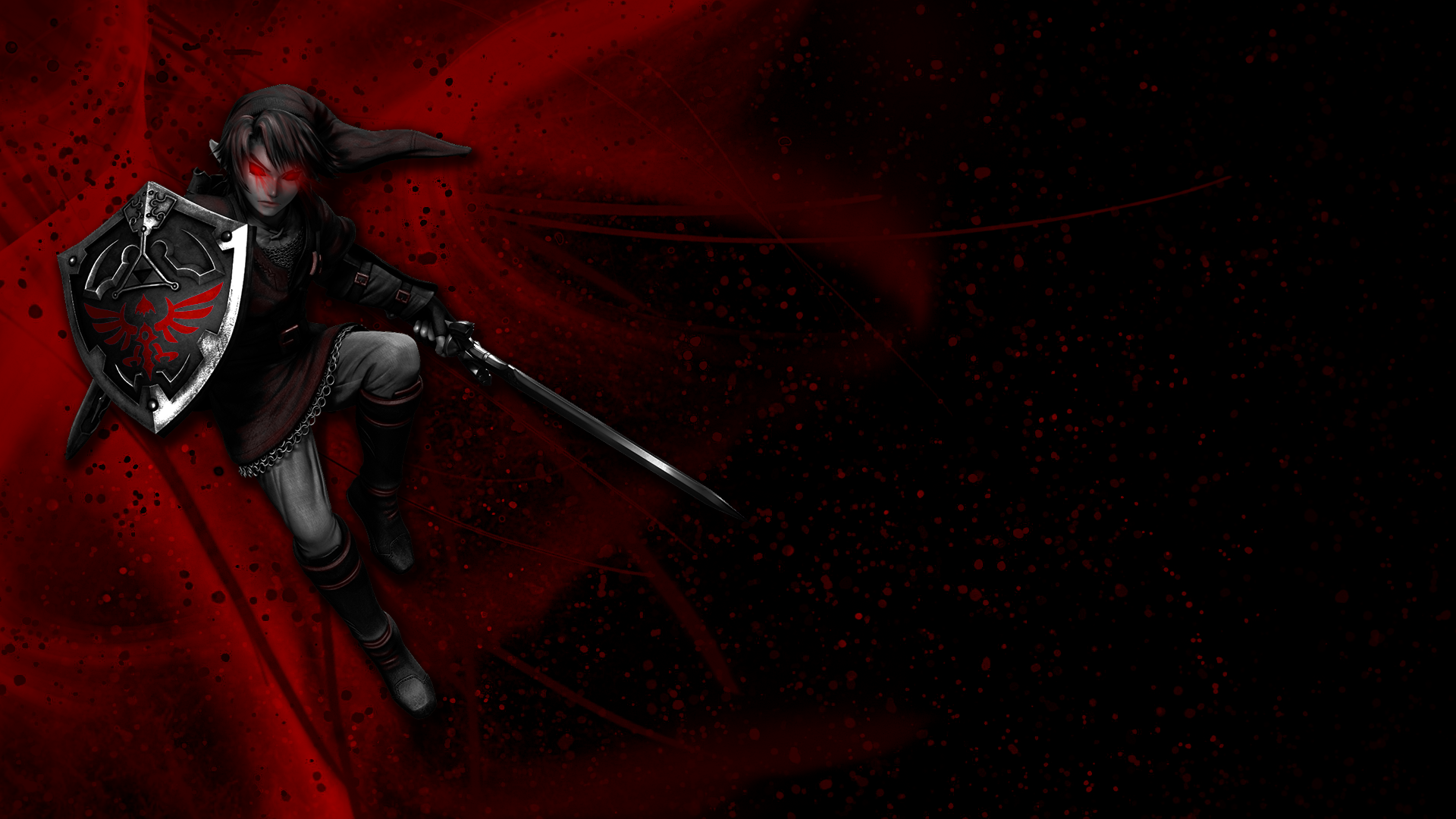 A new Dark Link wallpaper I created for my fellow LoZ fans 1920x1080