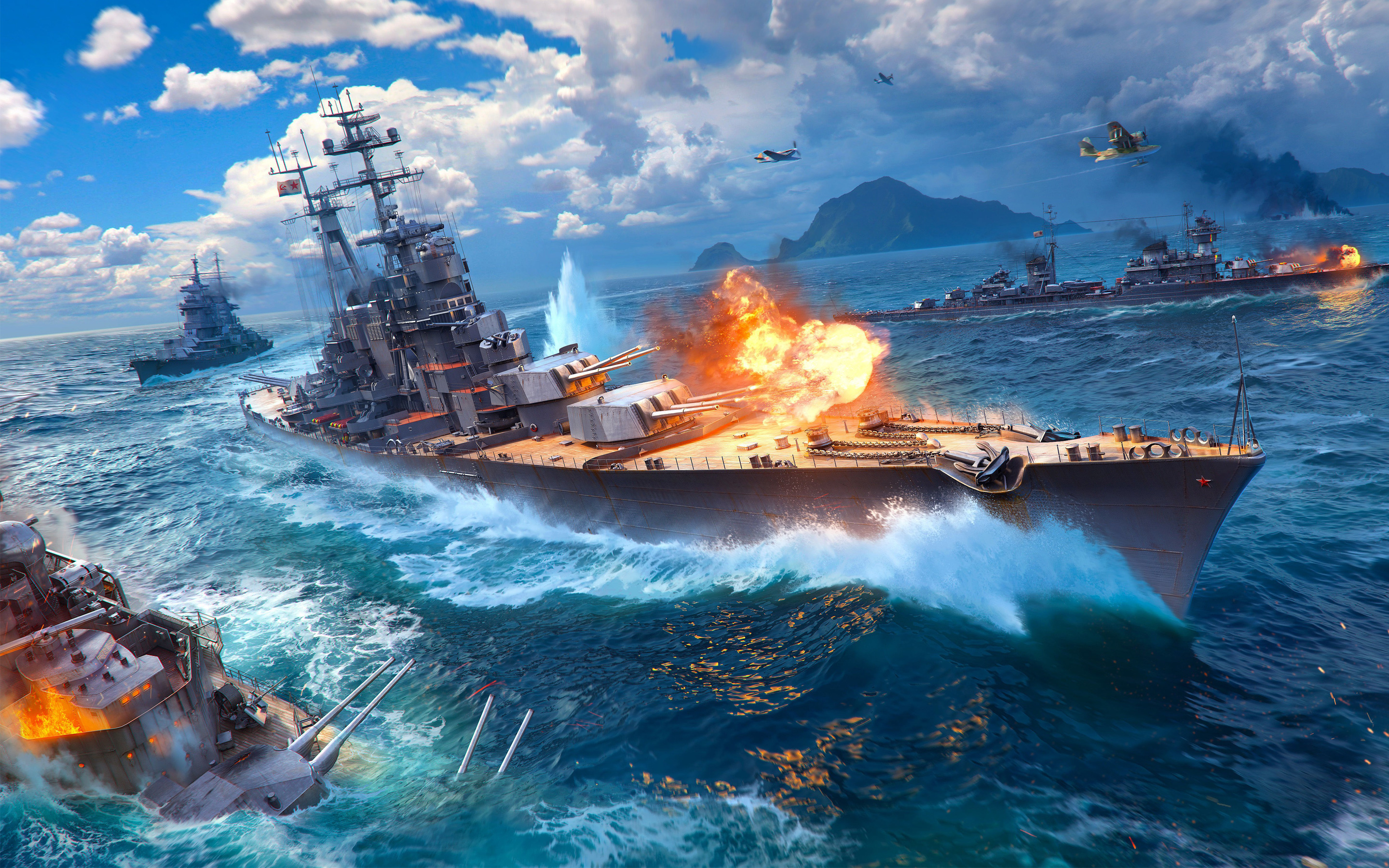 Free Download World Of Warships Game 4k Wallpapers Hd Wallpapers