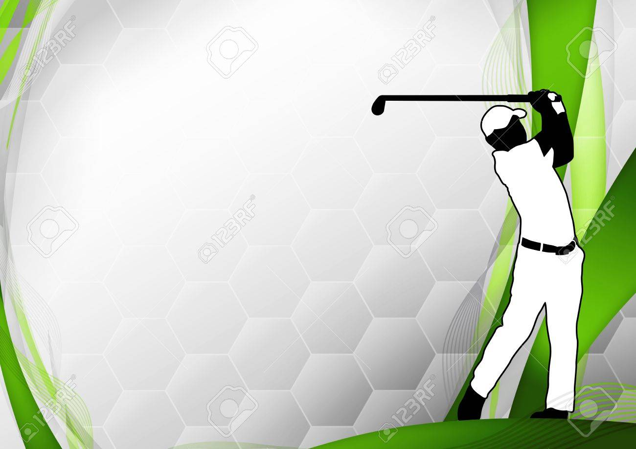 Golf Poster Golfer Shooting Background With Space Stock Photo 1300x918