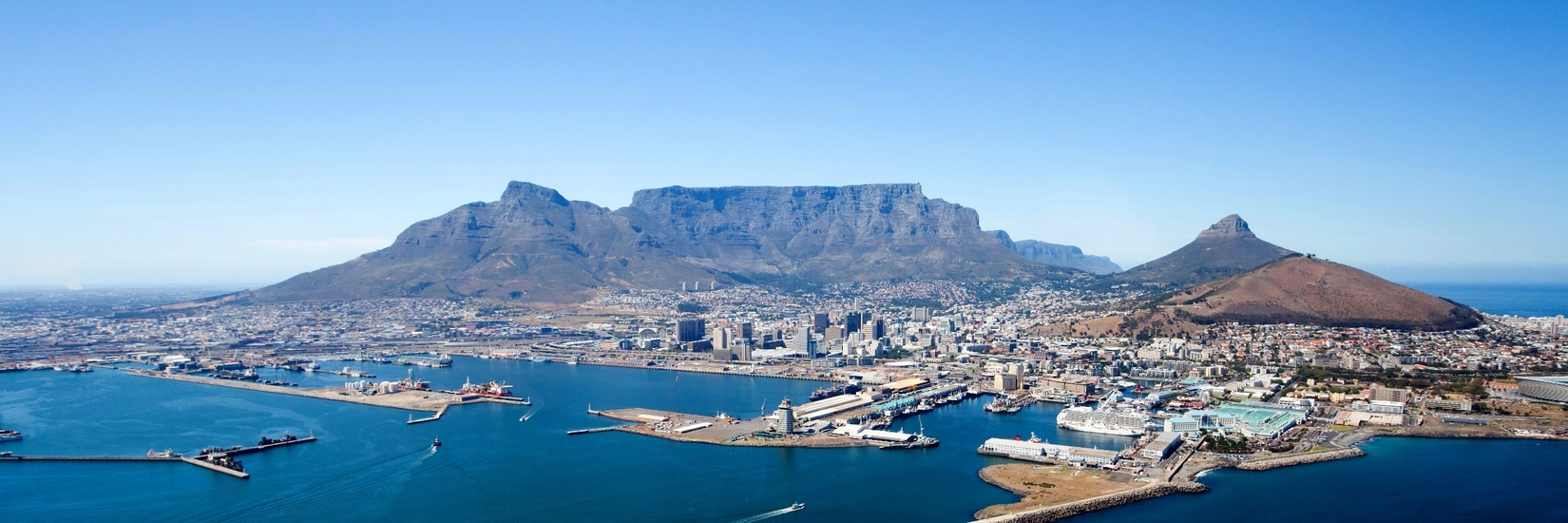 Cape Town Table Mountain 5 HD Wallpaper Landmarks Wallpapers 1650x550