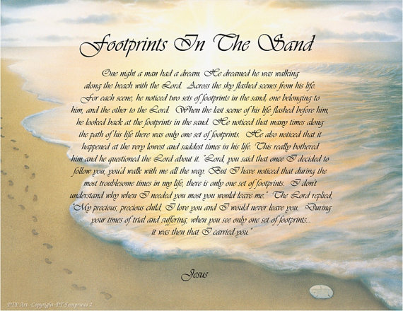 Footprints In The Sand Prayer Facebook Images Pictures   Becuo 570x440