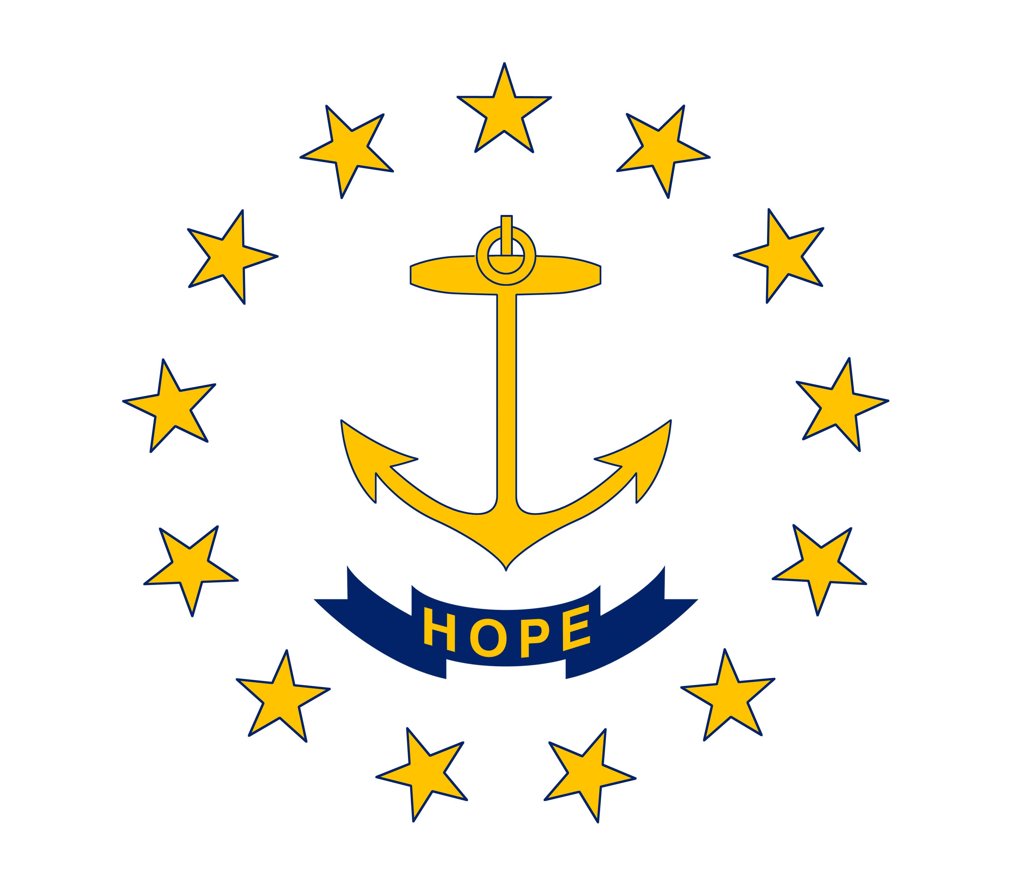 Photo USA Rhode Island Flag 3274x2877 3274x2877