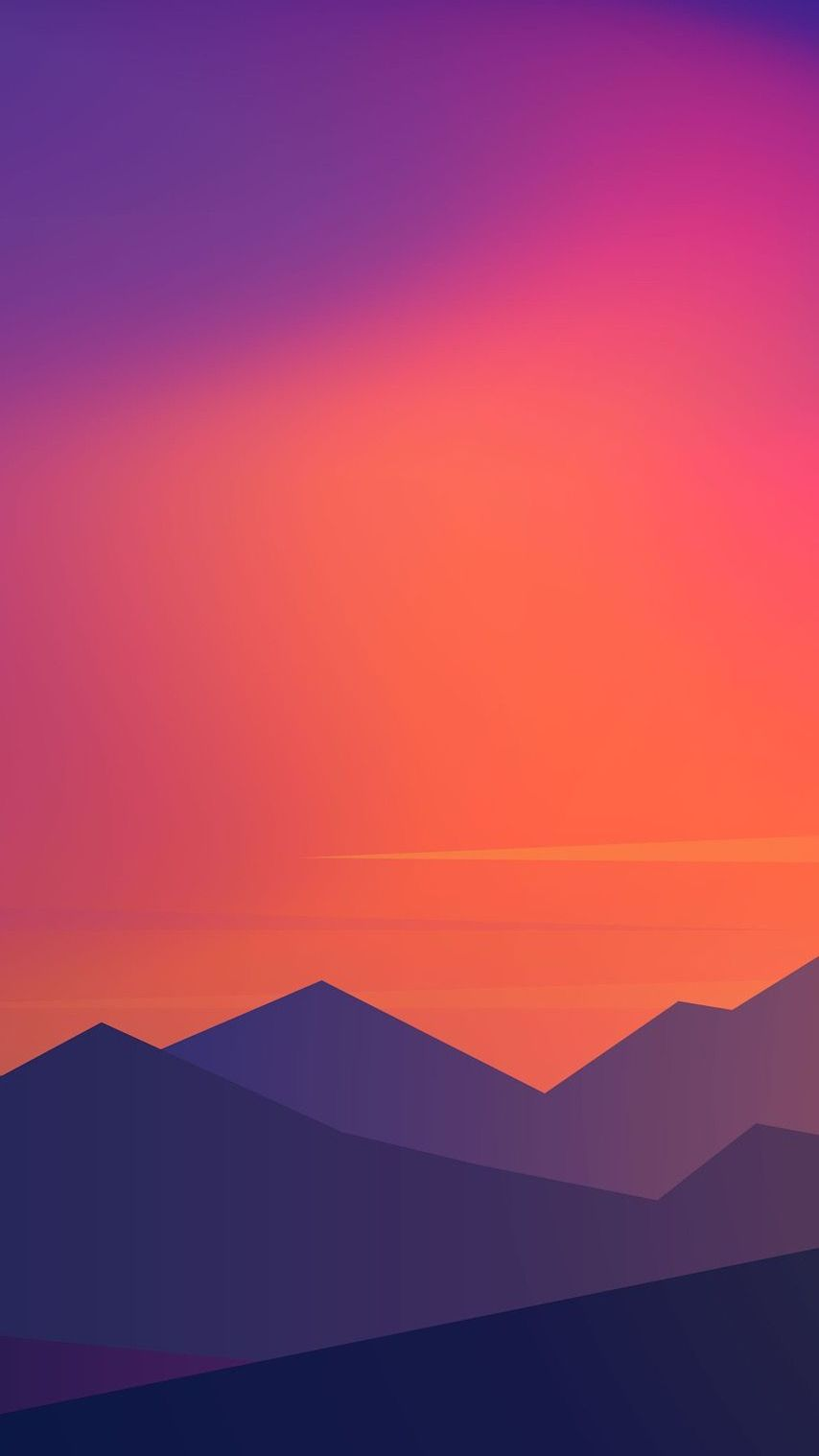Sunset Minimal Mountains iPhone Wallpaper Aesthetic in 2019 854x1518