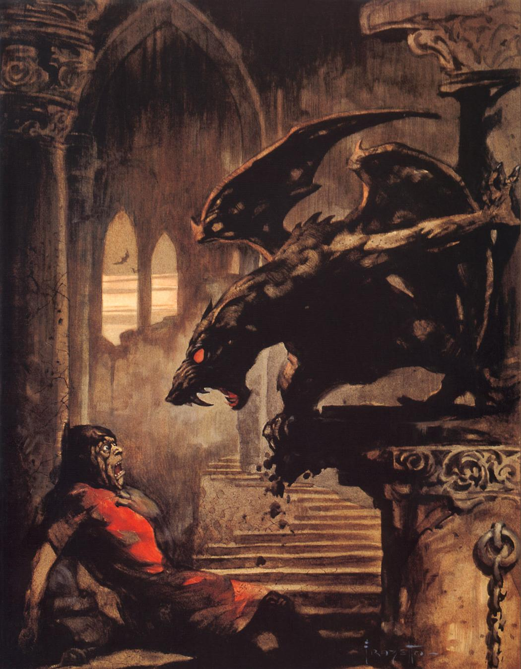 gargoyle frank frazetta HD Wallpaper   General 566435 1050x1348