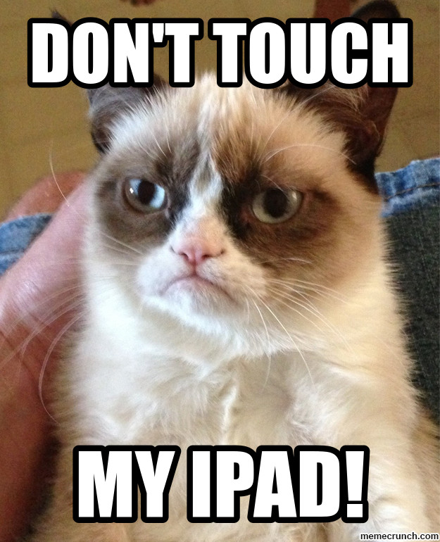 Grumpy cat iphone wallpaper wallpapersafari - Don t touch my ipad wallpaper ...