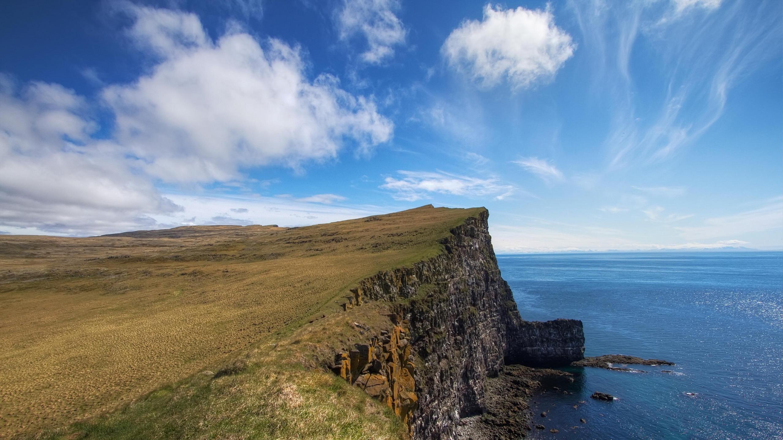 Cliff Sea Cliff Background 12177 2560x1440