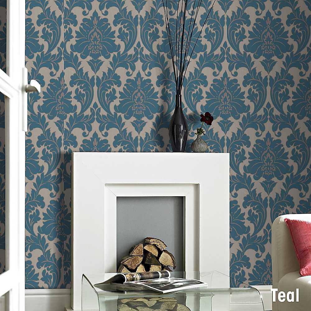 Teal Bedroom Wallpaper Teal And Brown Wallpaper Wallpapersafari