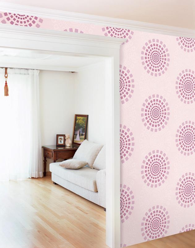 Modern Circle Wallpaper Self Adhesive Vinyl Home Depot   wallstickery 630x803