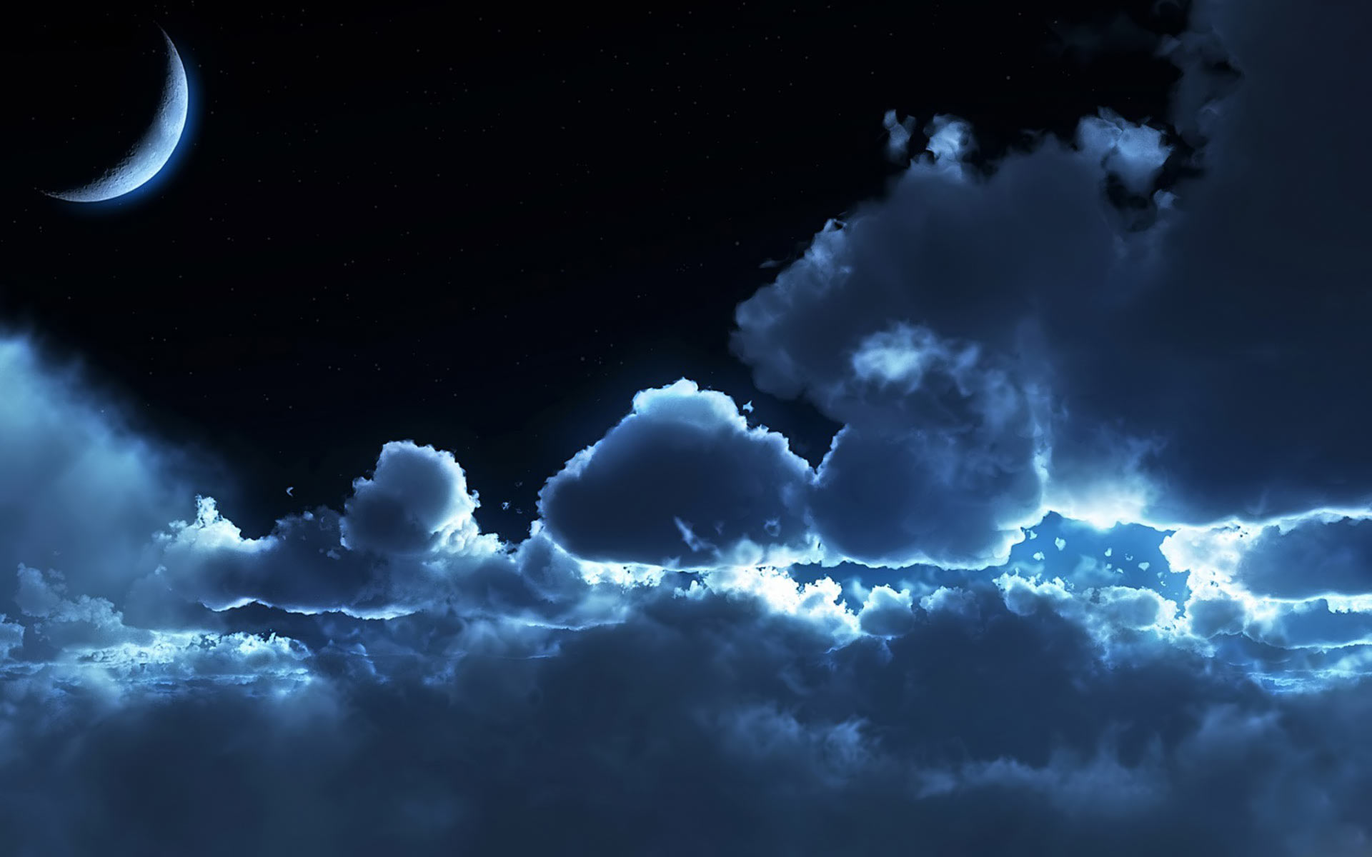 Dark Moon cloudy sky Wallpaper hd background   HD Wallpapers 1920x1200
