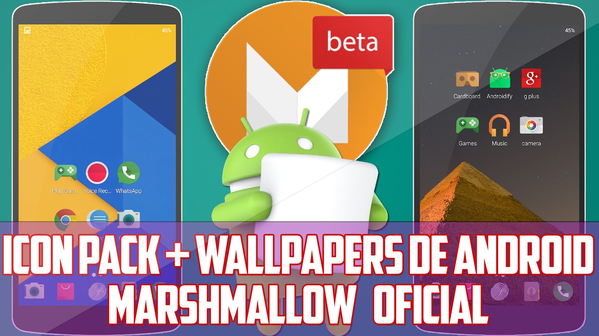 Icon Pack Wallpapers Oficiales De Android Marshmallow 1920x1080