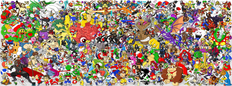 download Top Cool Nintendo Backgrounds Wallpapers [3000x1119 3000x1119