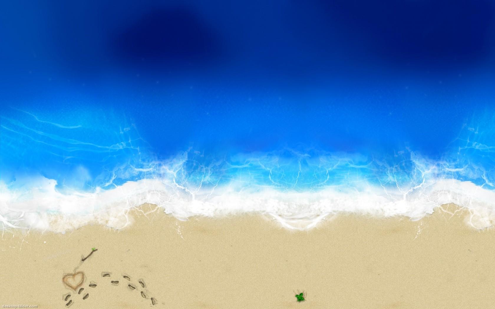 Schaue dir den Hintergrundbild Liebes Strand in der Gre von 1680x1050