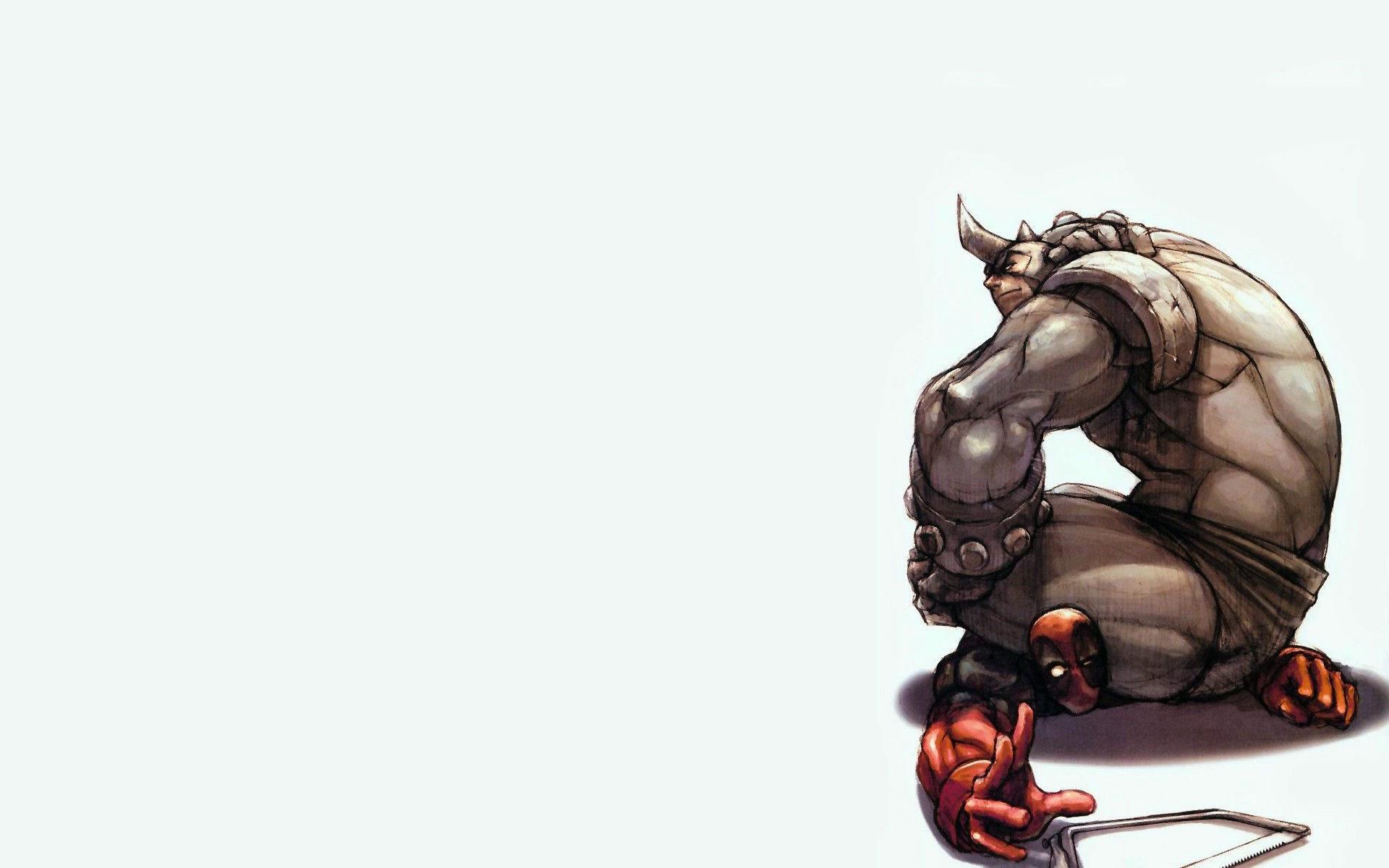 Deadpool Rhino Marvel Comics HD Wallpaper 1920x1200 widescreen a75 1920x1200