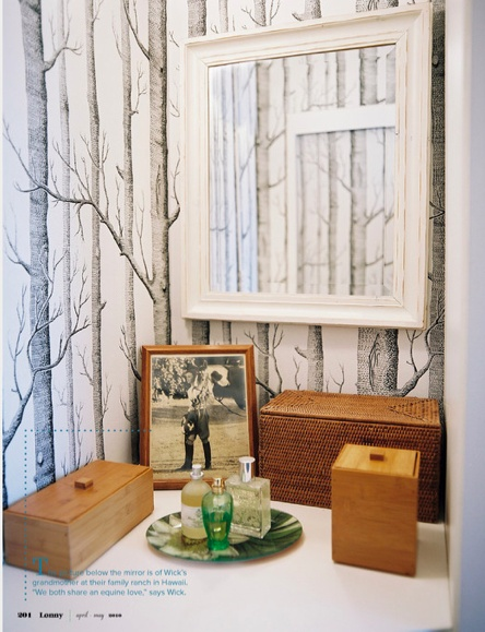 cole and son birch tree wallpaper Dining Room re do Pinterest 444x579