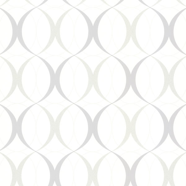 Circulate White Retro Orb Wallpaper   Contemporary   Wallpaper   by 600x600