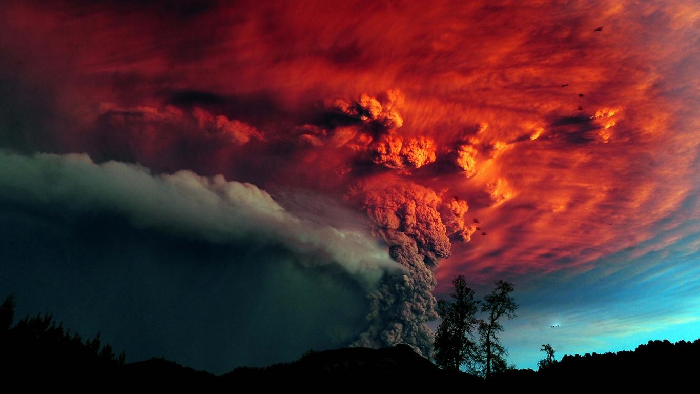 Chile Wallpaper Volcano Cloud 2014 Wallpaper Download 1366x768