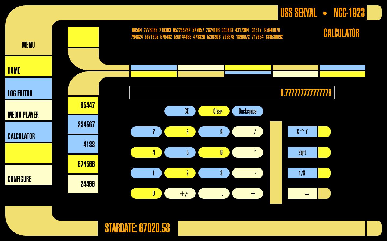 LCARS Interface Through The Panes 1440x900