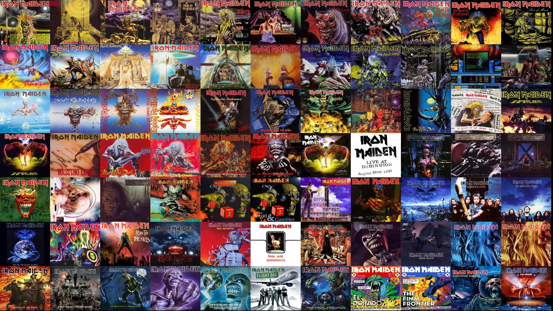 Iron Maiden Heavy Metal Dark Album Cover Eddie Wallpaper Windows 1920x1080