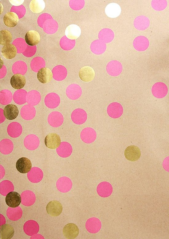 Phone Wallpaper Ideas Iphone wallpaper pink and gold polka dots 550x774