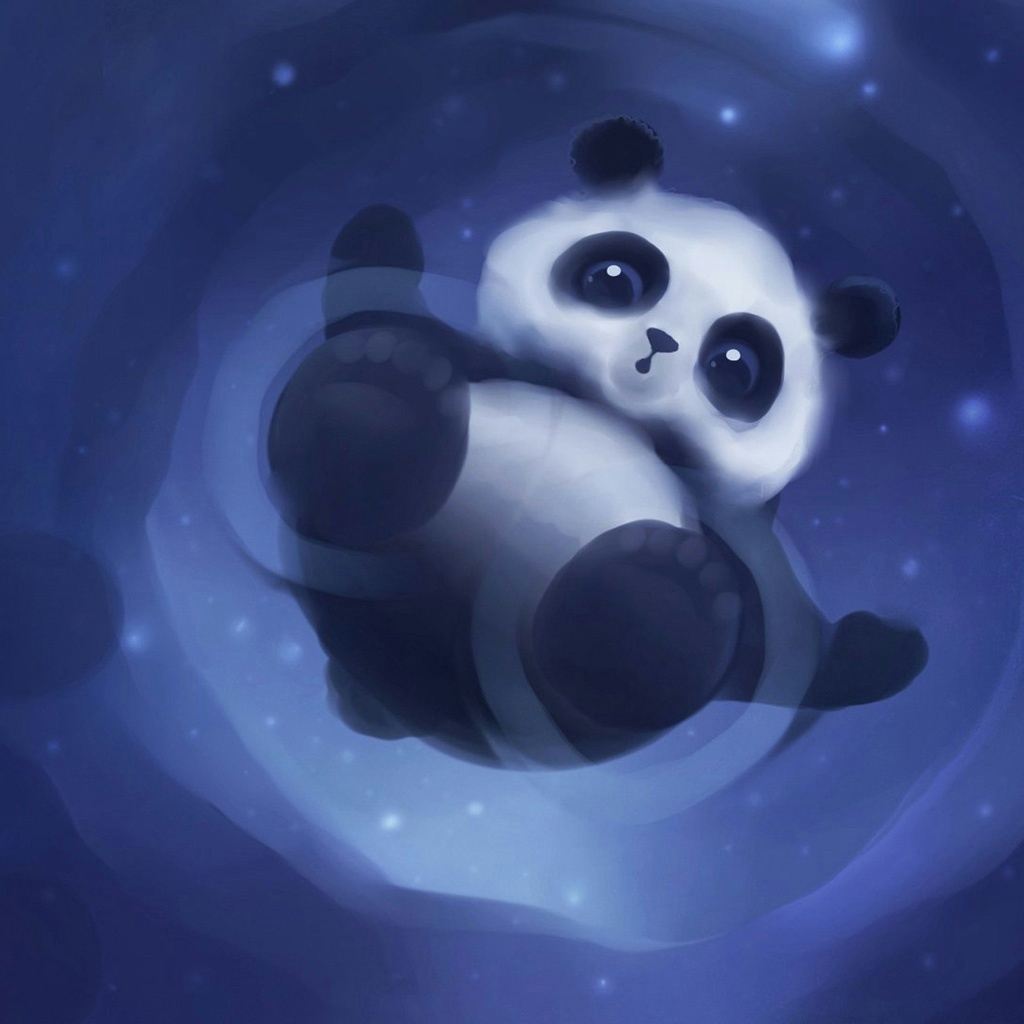 Pics Photos   Cute Panda Background 1024x1024