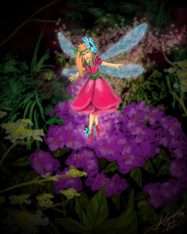 Fairy Garden Desktop Wallpaper WallpaperSafari