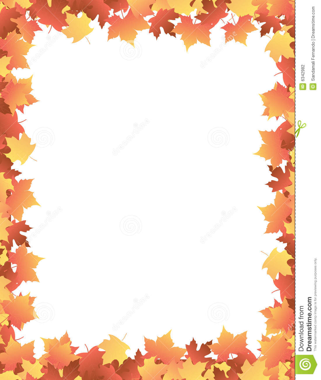 Autumn Leaves Border Clipart Wallpapers Gallery 1101x1300