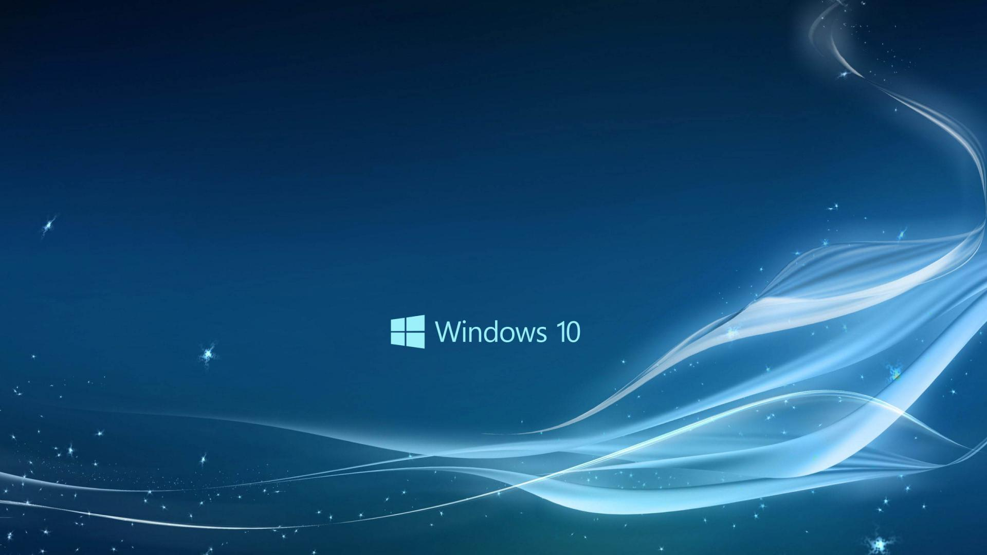 Windows 10 Wallpaper in Blue Abstract Stars and Waves HD Wallpapers 1920x1080