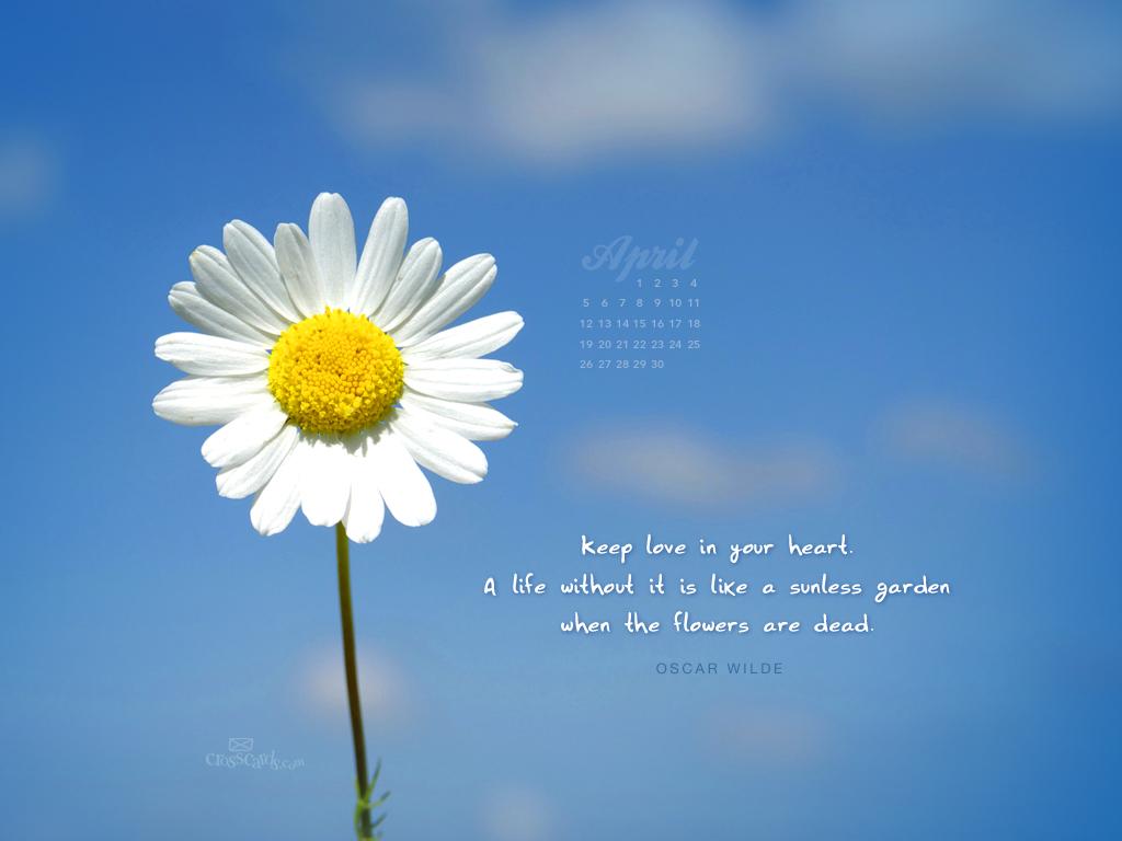 Love in Your Heart Desktop Calendar  Monthly Calendars Wallpaper 1024x768