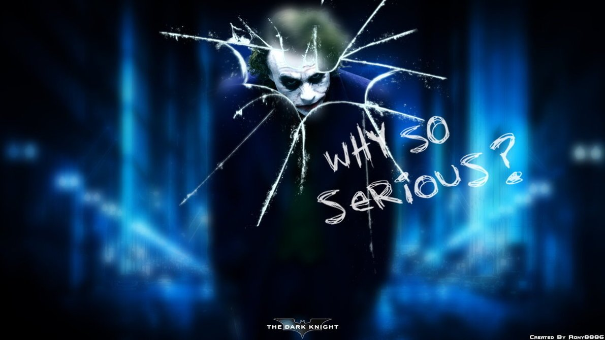 Joker Why So Serious Wallpaper - WallpaperSafari