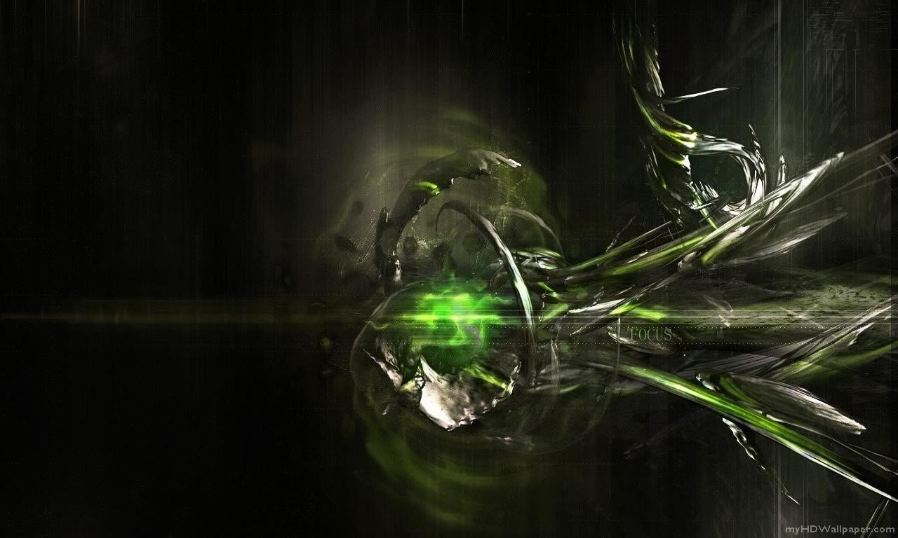 Black And Green Abstract Wallpaper 3456 Hd Wallpapers in Abstract 1280x768
