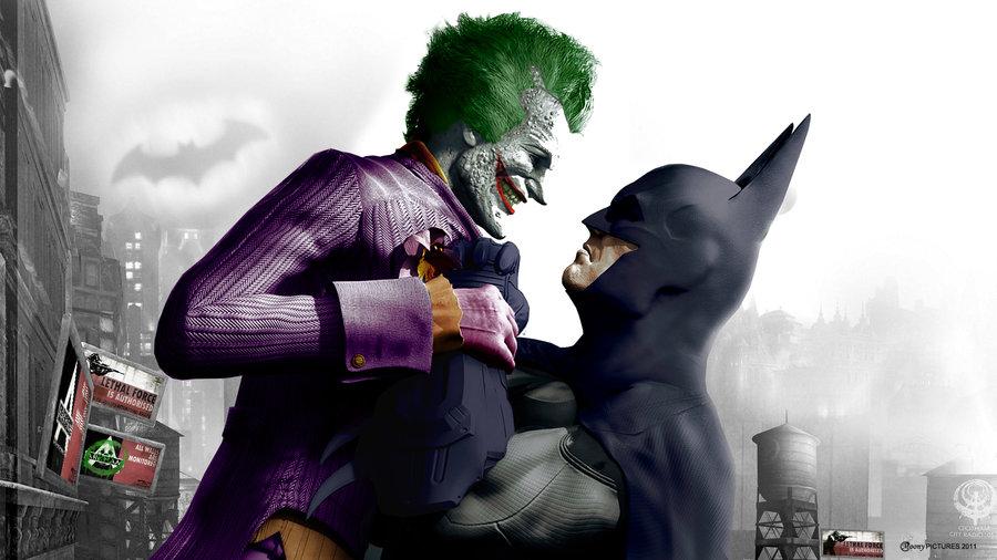 The Joker and Batman Arkham City by MoonySascha 900x506