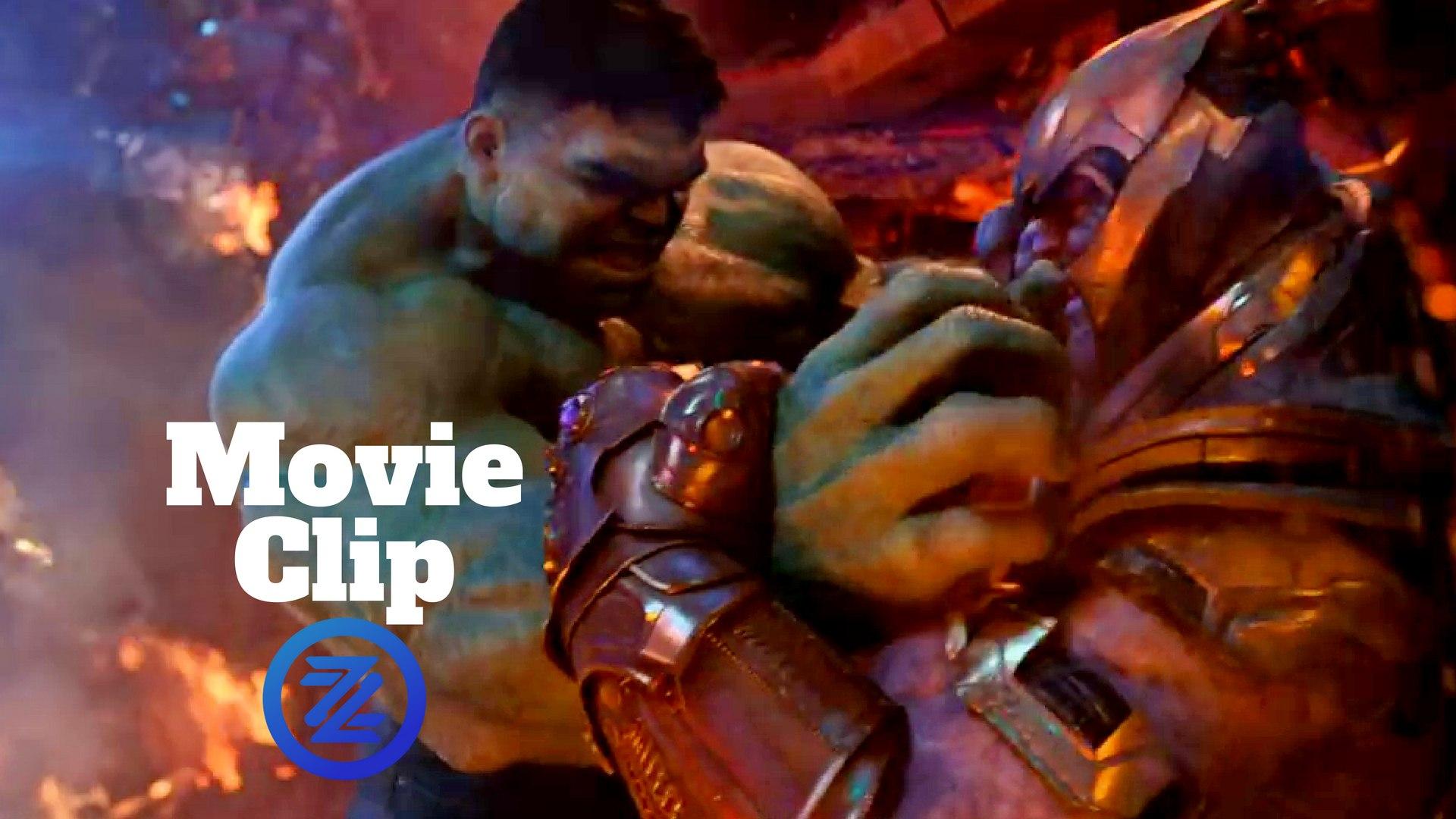 Avengers Infinity War Movie Clip   Hulk Vs Thanos Fight Scene 1920x1080