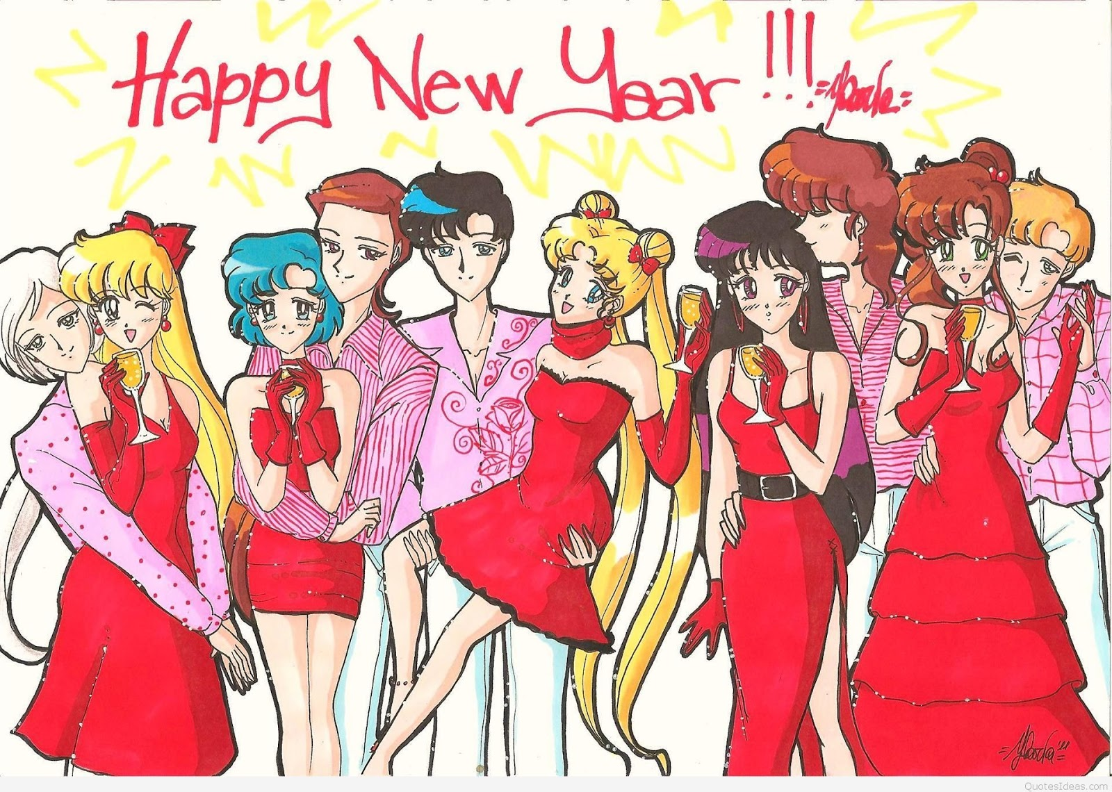 happy new year 2017 cartoon images happy new year 2018 1600x1140