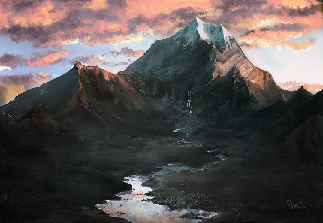 Erebor sunrise by WermoongRey 1076x743