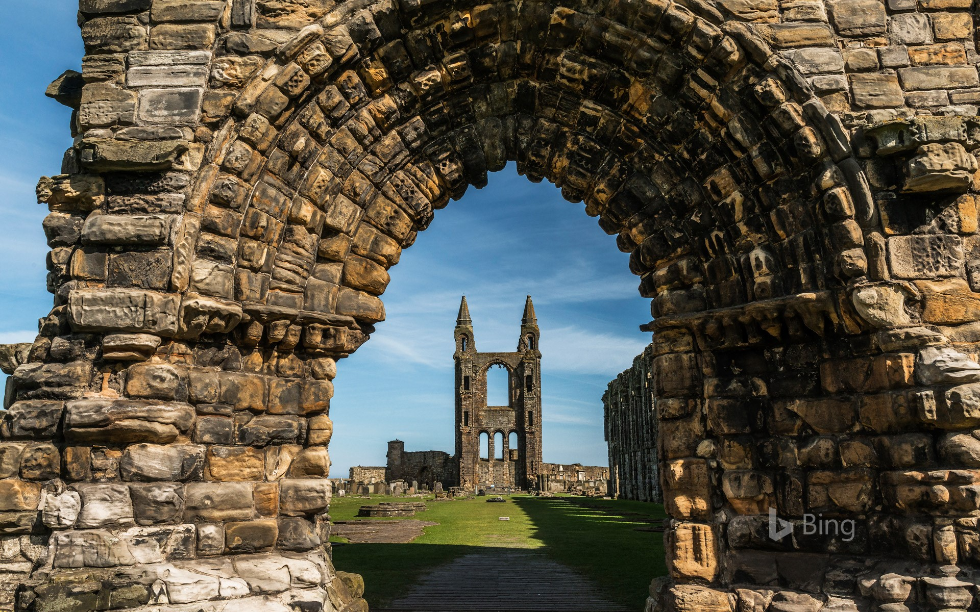 St Andrews Cathedral in Fife Scotland   Bing Wallpapers   Sonu Rai 1920x1200