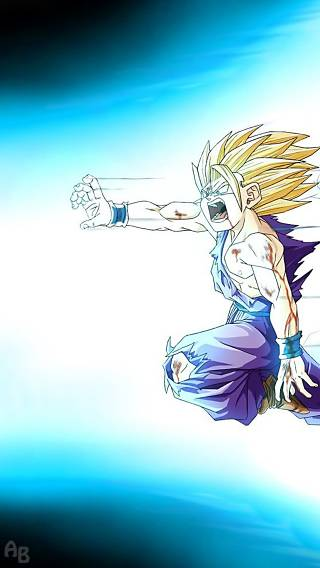 DragonBall Z Gohan Going All Out Anime   iPhone Wallpaper 320x568