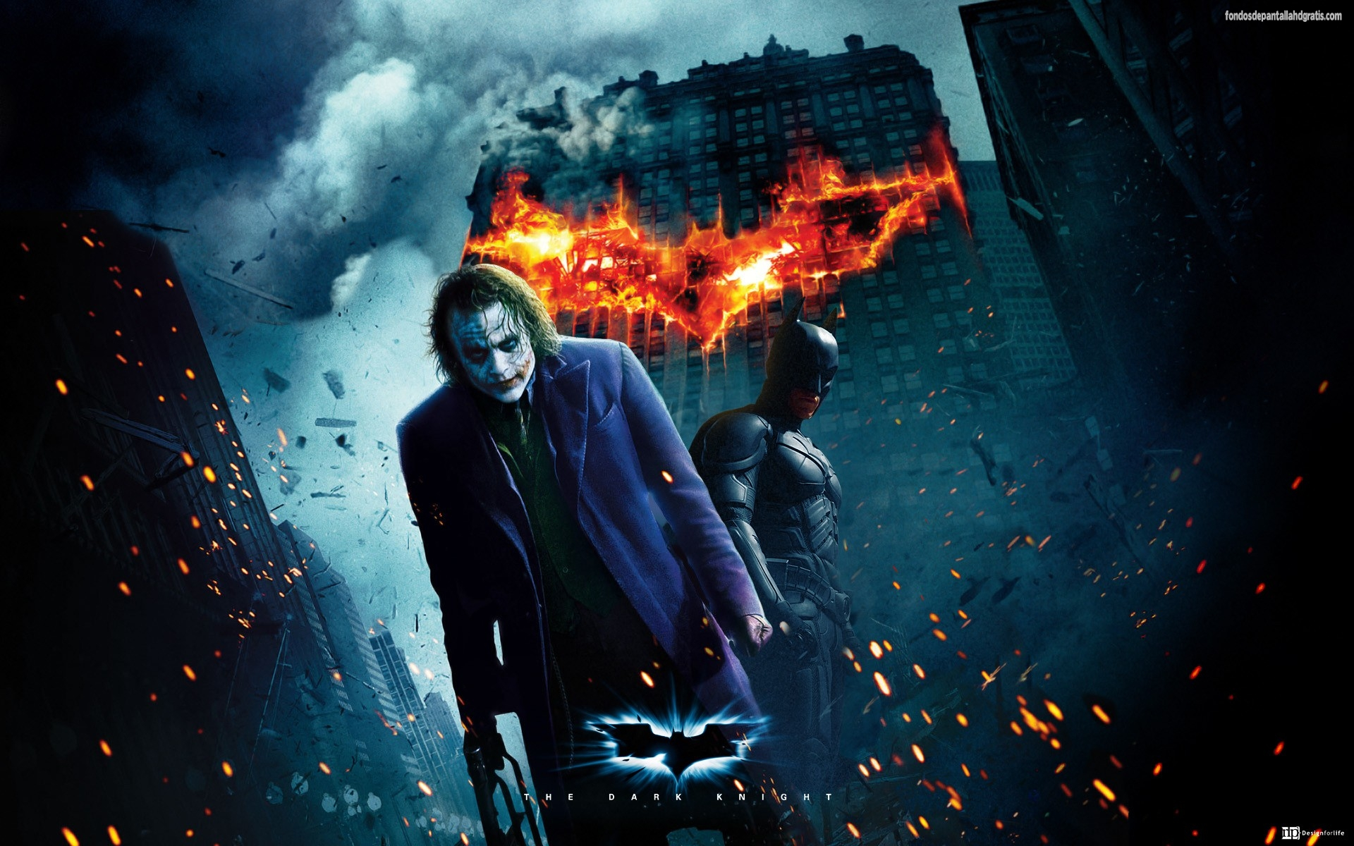 joker 3d batman the dark knight hd wallpapers hd widescreen Gratis 1920x1200