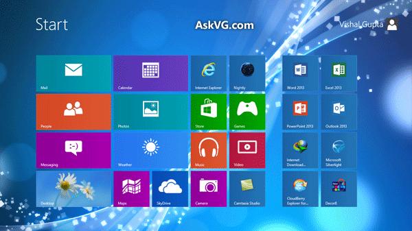 Windows 8 start screen wallpaper Wallpaper Wide HD 600x337