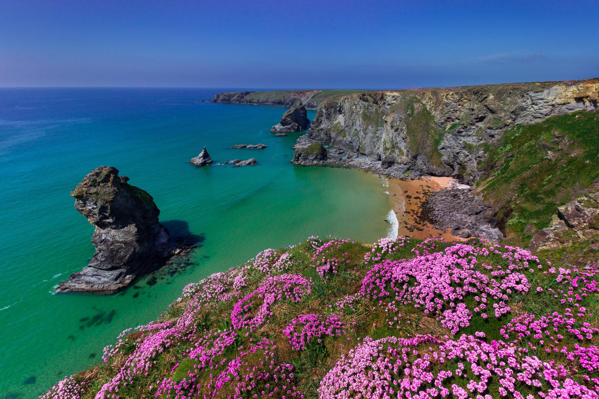 Coast of Cornwall England HD Wallpaper Background Image 2048x1365