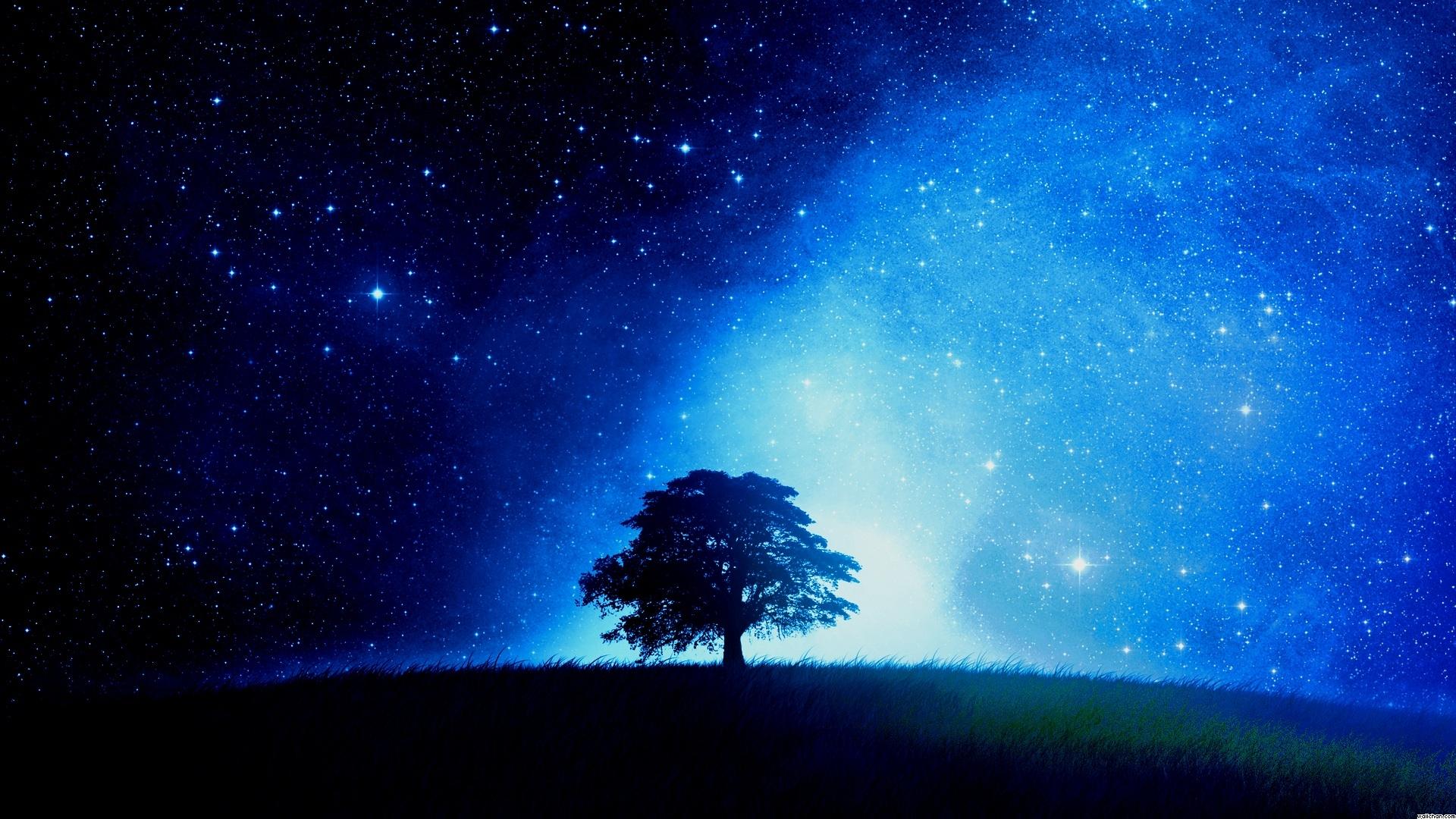 Night Stars Wallpaper 1920x1080