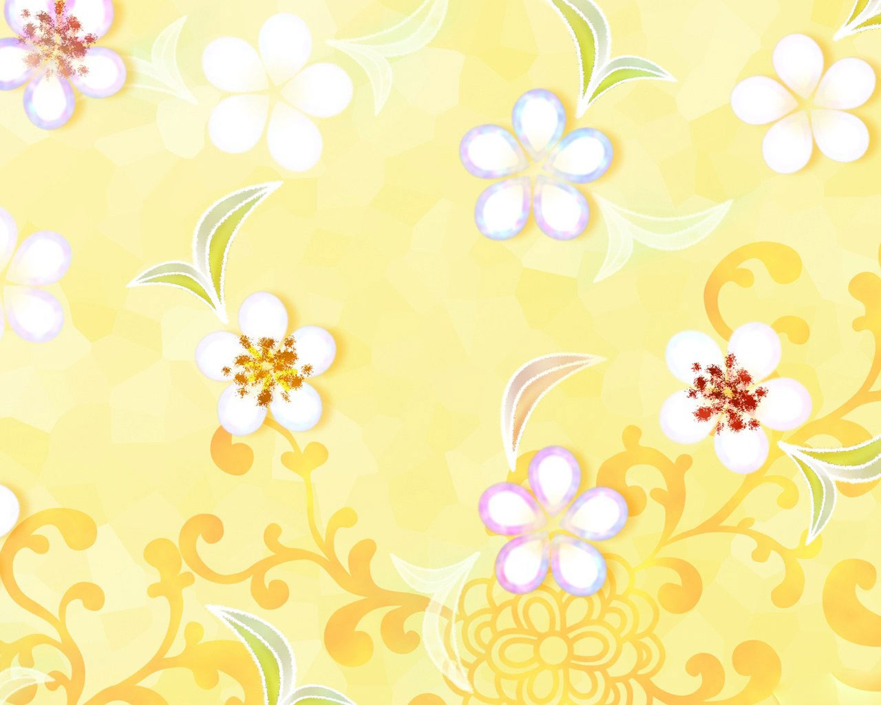 Spring flowers yellow background hd Wallpaper High 1280x1024