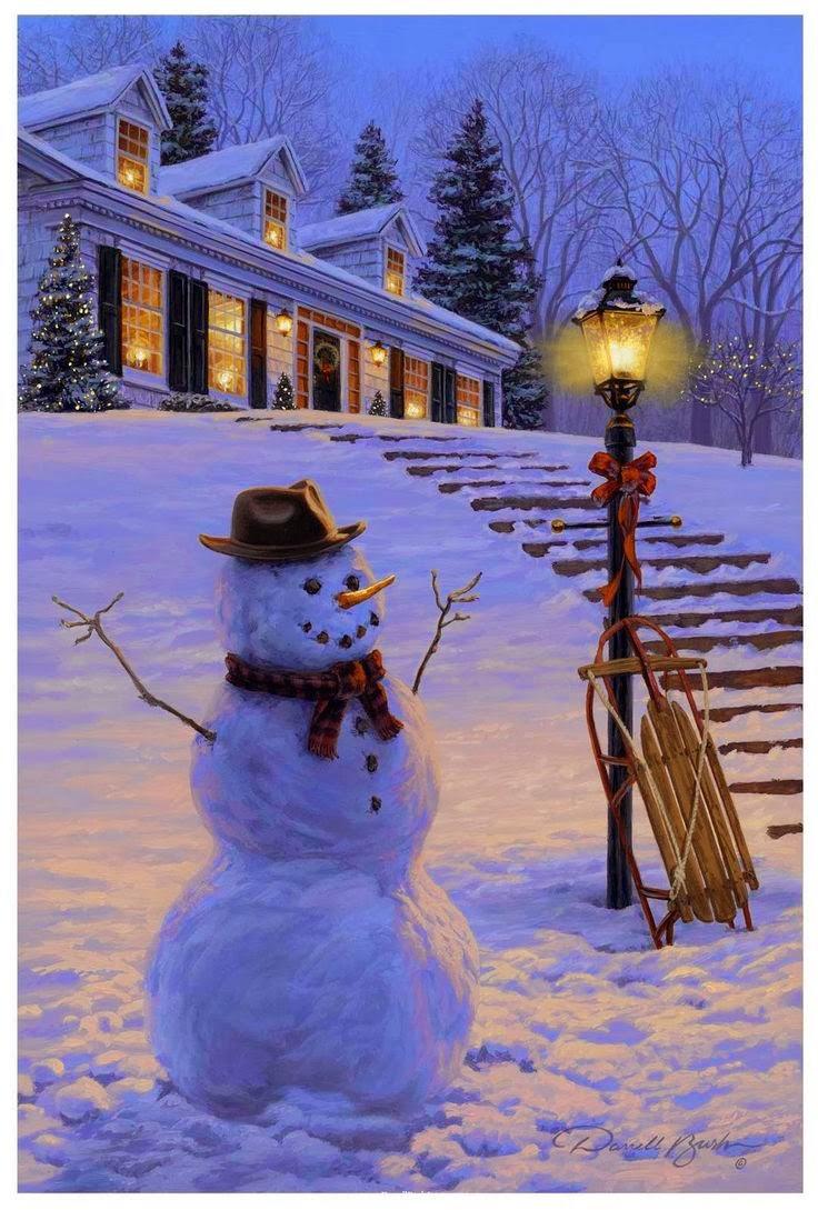 Desktop Backgrounds 4U Snowmen 736x1089