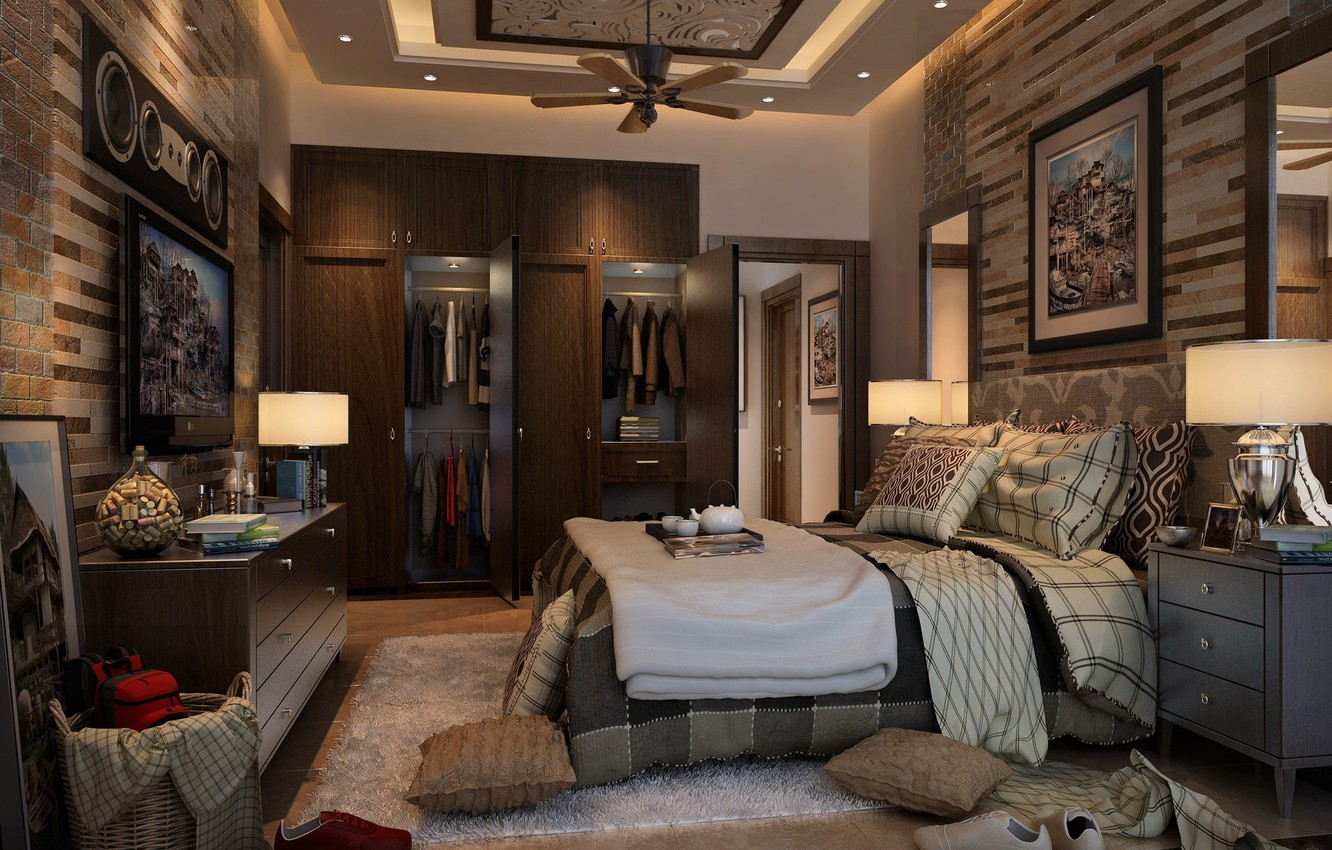 Wallpaper room clothing wardrobe mess MESSY BEDROOM images for 1332x850
