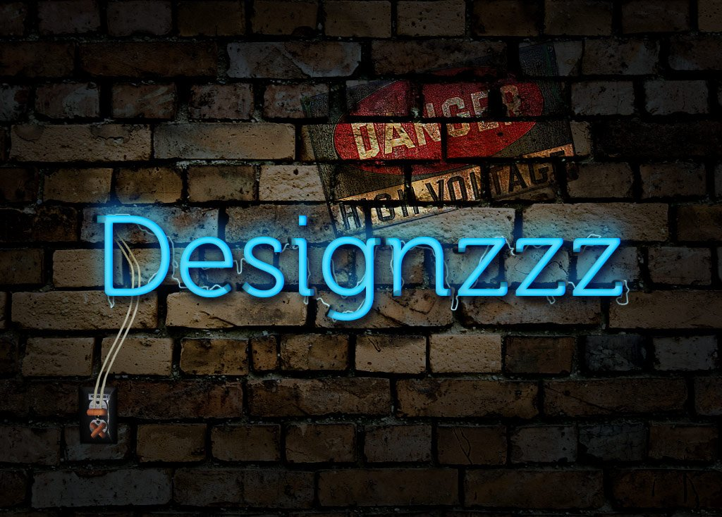 Create an Electrified Neon Text Effect for Wallpaper 1024x734