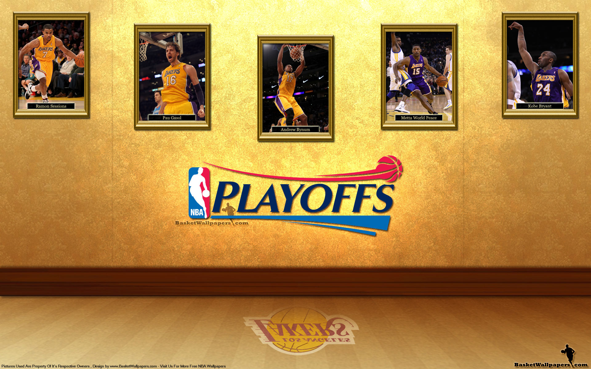 LA Lakers See You In Playoffs 2012 Wallpaper 1920x1200