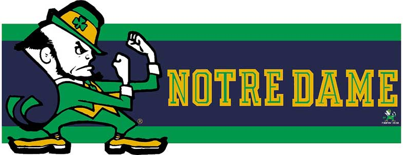 Notre Dame Fighting Irish 7 Tall Die Cut Wallpaper Border 785x302